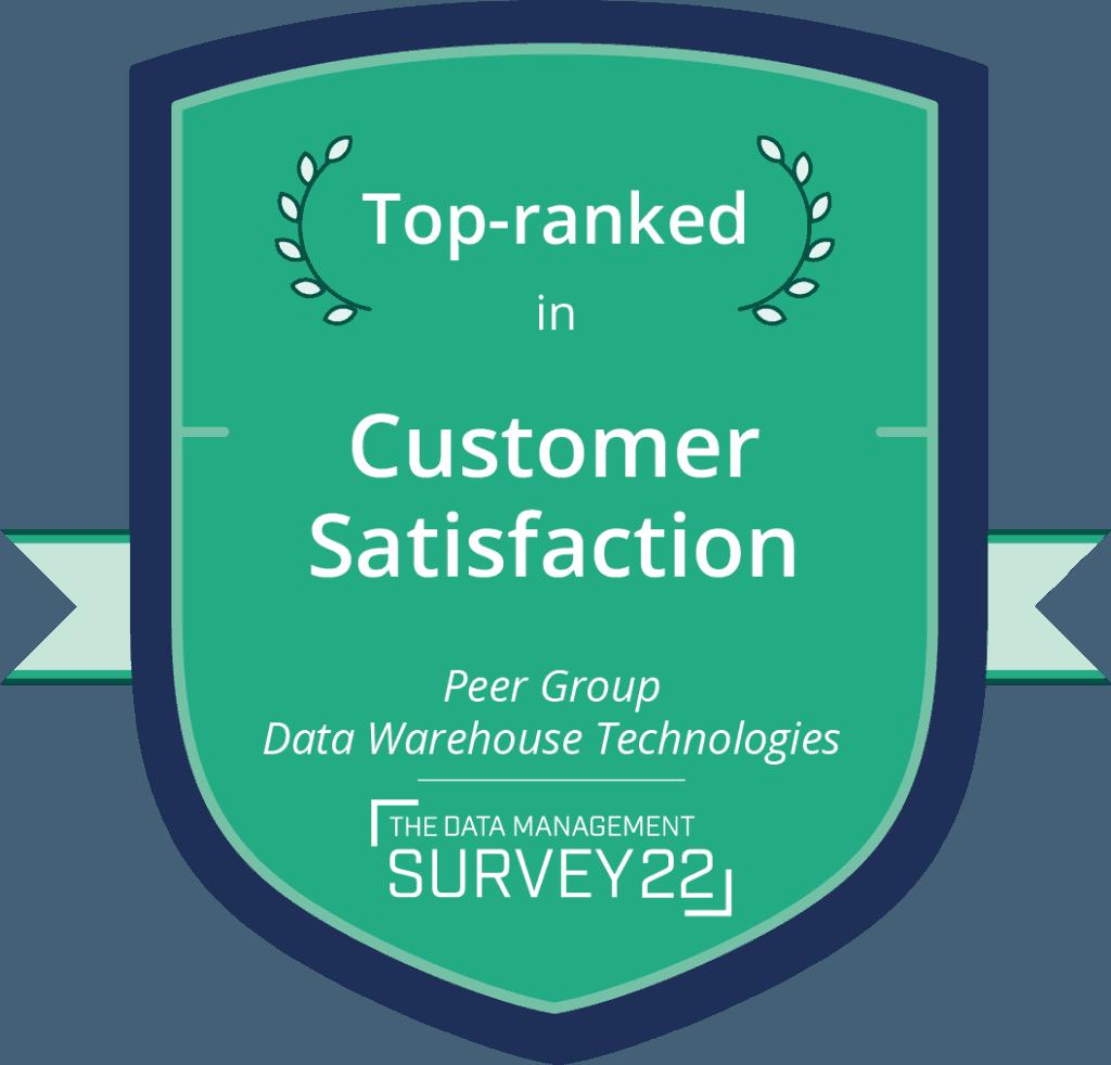 Barc - Top Ranked: Customer satisfaction Data Warehouse Technologies