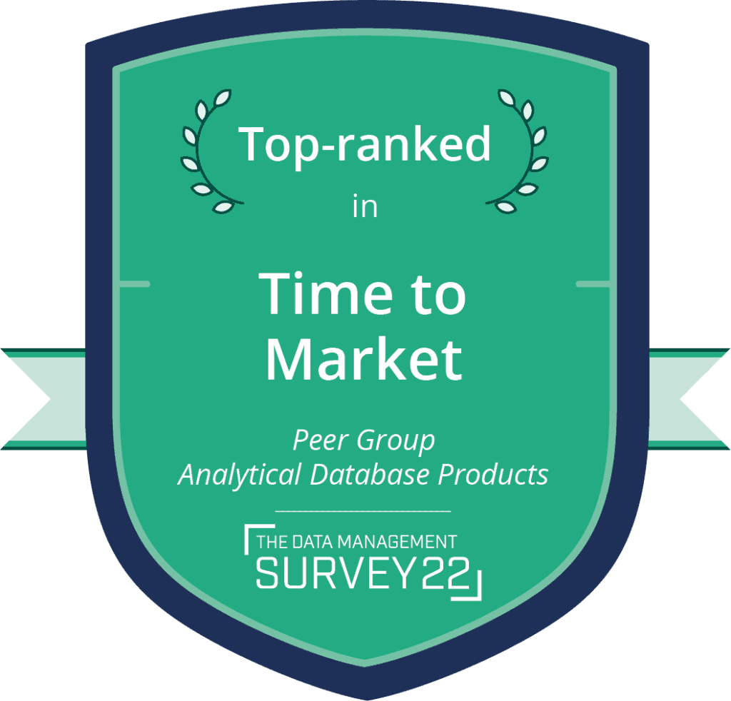 Barc - Top Ranked: Time to market - Analytical Database Products